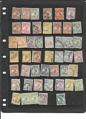 Stamps Aust Accumulation 450+Mainly Used  1913-65  Some Defects See Below