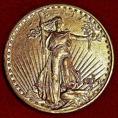 1914-S $20 Gold St Gaudens Double Eagle! Uncirculated!***follow Us!