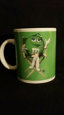 M & M Miss Green Coffee Cup Mug Diva Girl Lady Wearing Go Go Boots Gloves