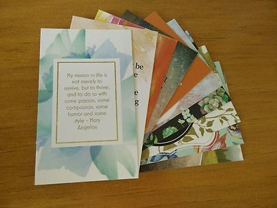 Affirmation/Positive Quote Cards x10