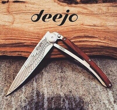 Deejo 27g 37g Pocket Knife - Hunt Fish Tattoo Ocean Earth Naked Wood Watch Maker