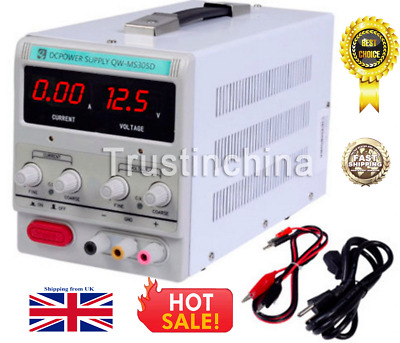 NEW QW-MS305D Adjustable Lab DC Bench Power Supply 0-30V 0-5A Variable Linear