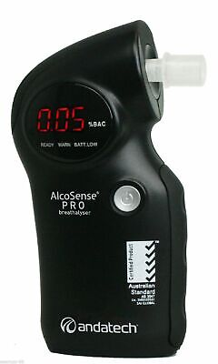 Alcosense Andatech Pro Breathalyser Alcohol Black Breathalzer + Free Headlamp