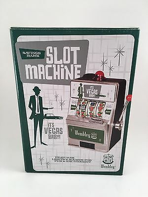Wembley Slot Machine Savings Bank-Its Vegas Baby-New In Box