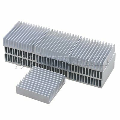 10pcs Silver Aluminium Cooling Fin Radiator Cooler Heat Sink 40x40x11mm