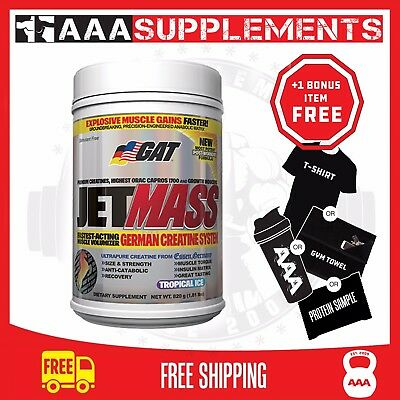 GAT | JetMass | 40 Serve | Jet Mass | Creatine Gym Fitness Supplement Strength