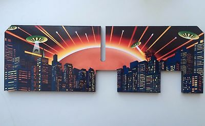 Attack from Mars pinball Bally Playfield backboard decal