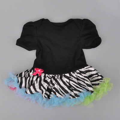 0-3Month Infant Baby Girl Ruffle Tutu Skirt One-Piece Outfit Dress Clothes