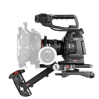 JTZ DP30 Cage 15mm Baseplate Rig Handle For Canon Cinema EOS C100 C300 C500 II