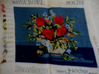 Tapestry  Completed Unframed Penelope Rosebowl Mr706