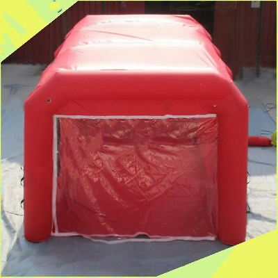 Red Custom Made Certified Giant PVC Inflatable Spray Paint Booth 6 x 4 x 3m