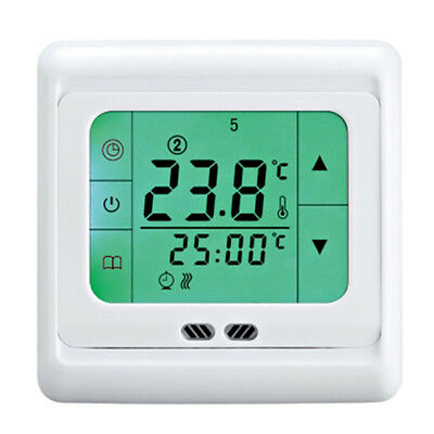 Thermostat Heating Programmable Screen Touch Floor Touchscreen Heat Temperature