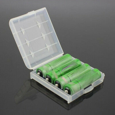 2 X Clear Plastic Case Holder Storage Box Cover for Rechargeable AA AAA Battery