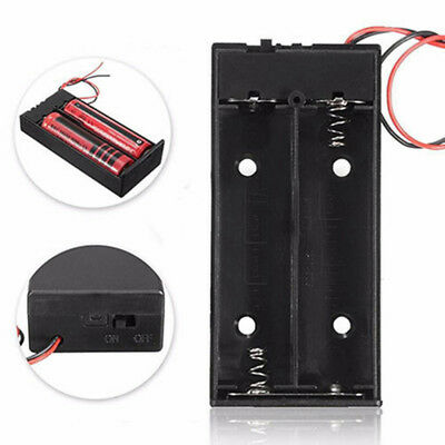 DC Holder Storage Box Case with ON/OFF Switch Cable for 3.7V 2 X 18650 Battery