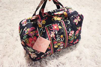 NWT Vera Bradley Grand Quilted cosmetic case bag in Ribbons New