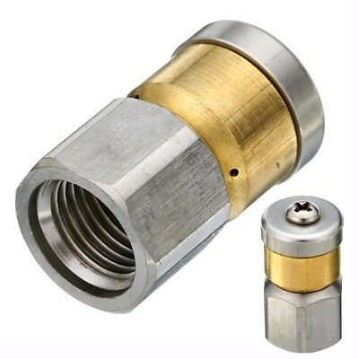 """Steel Pressure Washer Drain Cleaning Rotary Nozzle 1/4""""F BSP 0.55mm-1.2mm"""