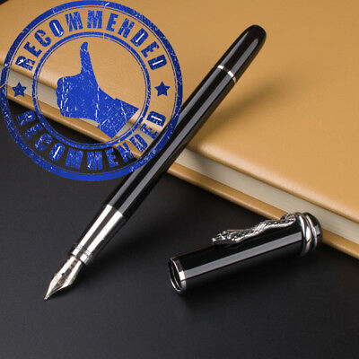 MONTE MOUNT Glossy Black Fountain Pen 3D Snake excellent quality