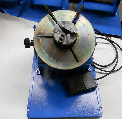 with 65mm 3 Jaw Chuck 2~10RPM 10KG Light Duty Welding Positioner Turntable