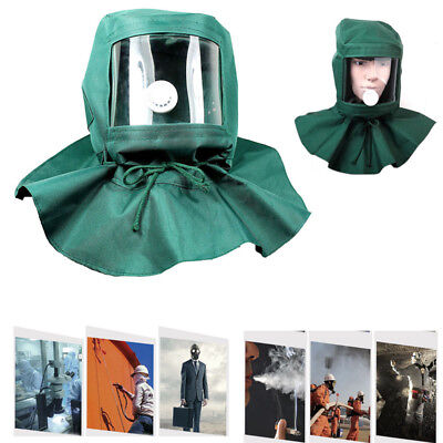 UK Sand Blasting Hood Cap Anti Wind Sandblaster Tools Dust Protective Face Mask