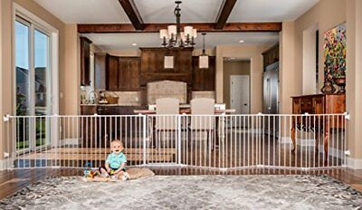 Baby Toddler Safety Gate Fence Fireplace Indoor Pet Dog Security Metal Strong
