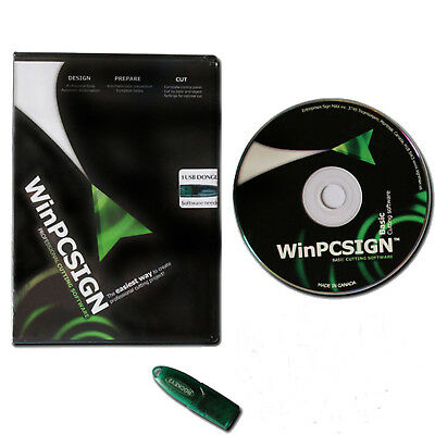 WinPCSIGN 2012 Basic Contour Cut Sign Making Software For Cutting Plotter Cutter