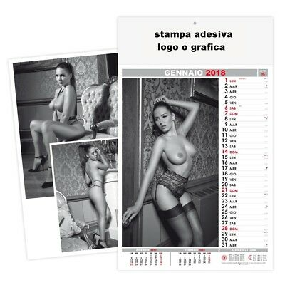 stock calendari 2018 donne Sexi Black white personalizzare logo calendario