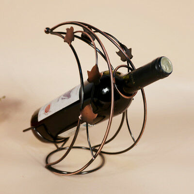 1Pcs New Creative Metal Wine Holder Hot Metal Moon Model Wine Rack