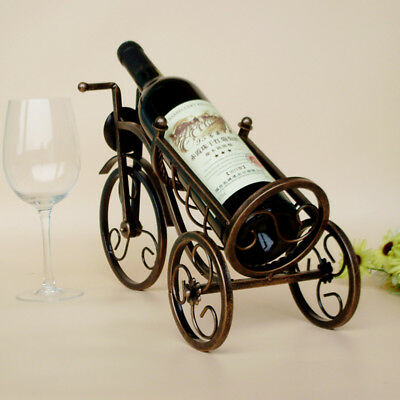 1Pcs Rack Holder Hot Tricycle Shape Red Wine Metal Wine Shelf Retro