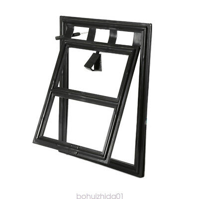 Black Dog Cat Pet Lockable Screen Door For Window security Large and Small (S)