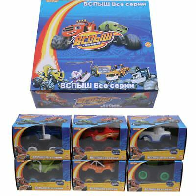 CA 6pc Blaze and the Monster Machines Vehicles Diecast Toy Racer Cars Trucks Kid