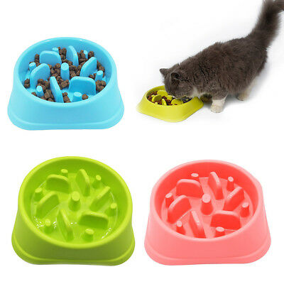 Slow Feed Interactive Bloat Stop Dog Bowl Large Eating Food Pet Feeder Cup tb2