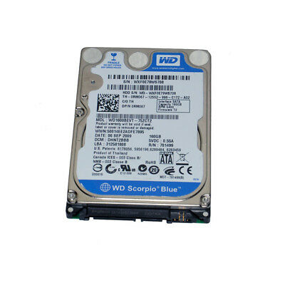 "WD Scorpio Blue WD1600BEVT 160 GB 5400RPM SATA 2.5"" 3.0 Gbps Laptop Hard Drive"