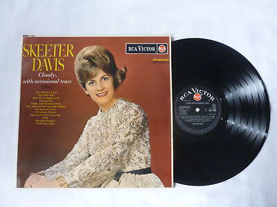 Skeeter Davis ~ Cloudy With Occasional Tears ~ Rare 1963 Uk Rca Country Vinyl Lp