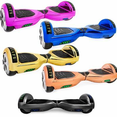 "2 Wheel Self Balancing Board Special Chrome Led Model 6.5"" Bluetooth Ce Approved"