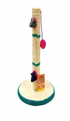 Cat Kitten Scratching Pole Post Pet Toy Sisal Tree Scratcher Play Activity