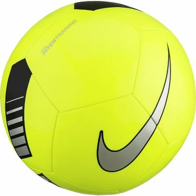FOOTBALL/ SOCCER BALL NEW FOR 2018 NIKE PITCH 2nd TIER BALL SIZE 4 VOLT/BLACK