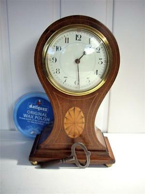 Antique French Balloon Mantle Clock Good Working Order.