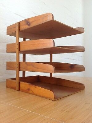 Vintage retro tiered letter tray - LOCAL PICKUP