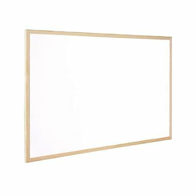 DRY WIPE WHITEBOARD WOODEN FRAME 30 x 40CM - NON MAGNETIC NOTICE BOARD