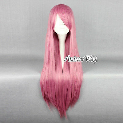 "Lolita 32"" Long Pink Straight Party Fancy Anime Cosplay Wig"