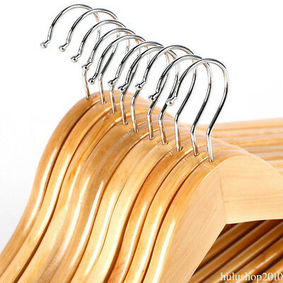 Solid Wood Pants Wooden Package Wooden Children Shop Clothes Solid Hanger New WF