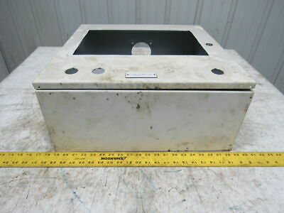 """Hoffman A201606LP 20x16x6/"""" JIC Hinged Electrical Enclosure Cabinet W//Back Plate"""