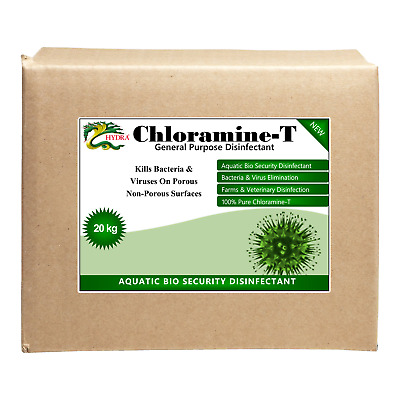 HYDRA CHLORAMINE-T 20Kg Disinfectant Eliminate Bacteria, Virus, Fungi & Yeasts