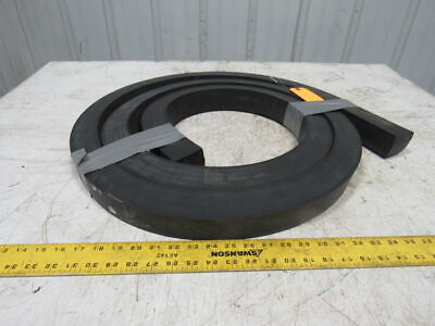 """2""""x2""""x12' Black Rubber Replacement Grizzly Bar Screen Impact Bed Bump Stop"""