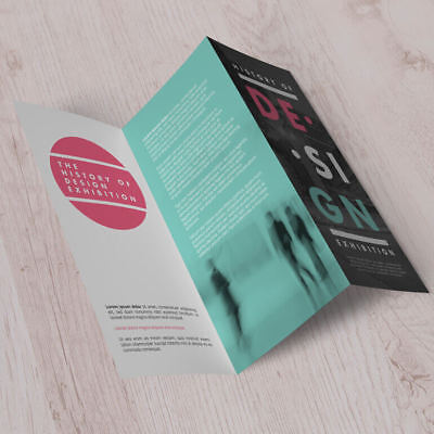 A4 Folded flyers (menus) on 150gsm gloss printed full colour double sided with f