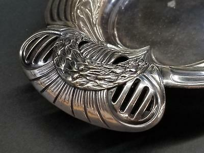 """12"""" Oval Silverplate Tray/Platter Ornate Handles Queen City Silver Co 1910 Nice!"""
