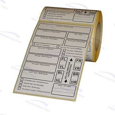 Tire Labels / Tyre Labels for einlagerung - Extra Strong Persistent - 200