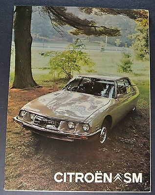 1973 Citroen SM Sales Brochure Folder Excellent Original 73