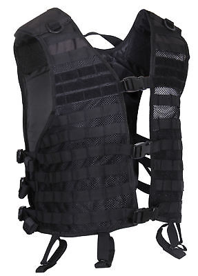 Utility Tactical Lightweight Black Military MOLLE Vest Rothco 7206