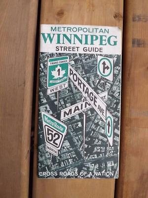 Metropolitan Winnipeg Street Guide Map 1967 Cross Roads Of A Nation